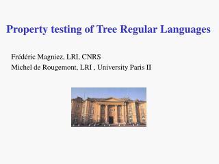 Property testing of Tree Regular Languages
