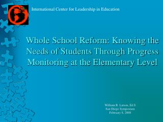 Whole School Reform: Knowing the Needs of Students Through Progress Monitoring at the Elementary Level