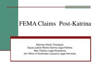 FEMA Claims  Post-Katrina