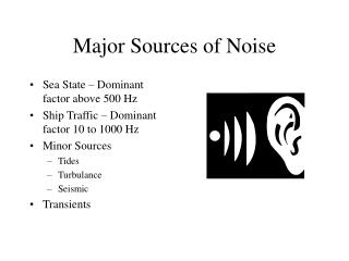 Major Sources of Noise
