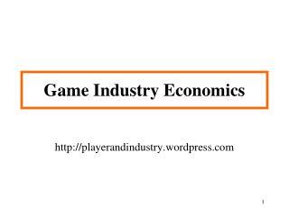 Game Industry Economics