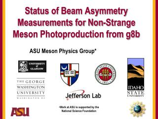 Status of Beam Asymmetry Measurements for Non-Strange Meson Photoproduction from g8b