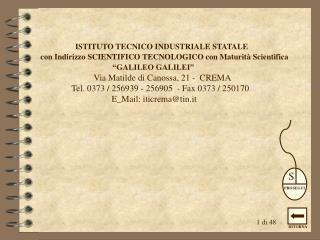 ISTITUTO TECNICO INDUSTRIALE STATALE