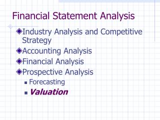 Financial Statement Analysis Industry Analysis and ...