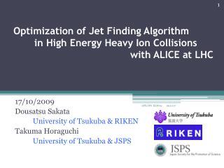 17/10/2009  Dousatsu Sakata            University of Tsukuba & RIKEN Takuma Horaguchi