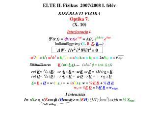 r n  = R o  + n   /2 jelöljük y n  -nel a  Fresnel zóna  sugarát.