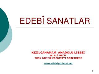 EDEB  SANATLAR