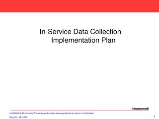 In-Service Data Collection  Implementation Plan