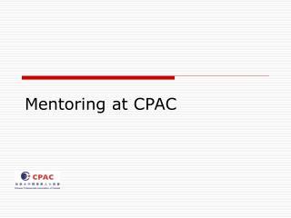 Mentoring at CPAC