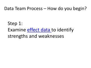 Data Team Process – How do you begin?