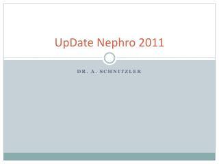 UpDate Nephro 2011