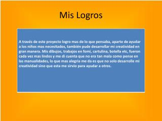 Mis Logros