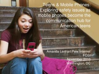 Teens 12-17 4% have sent sexts 15% have received sexts
