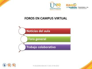 FOROS EN CAMPUS VIRTUAL