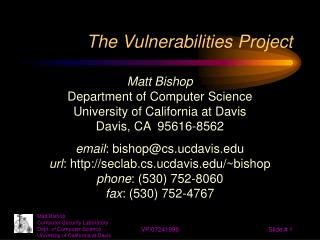 The Vulnerabilities Project