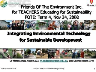 Integrating Environmental Technology for Sustainable Development