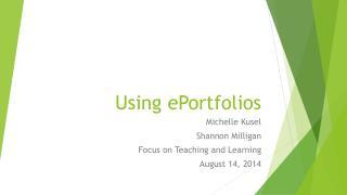 Using  ePortfolios