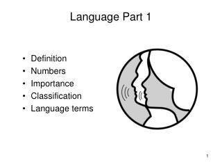 Language Part 1