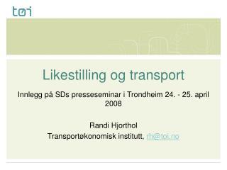 Likestilling og transport
