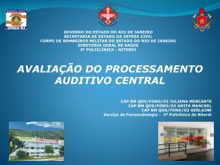 GOVERNO DO ESTADO DO RIO DE JANEIRO SECRETARIA DE ESTADO DA DEFESA CIVIL