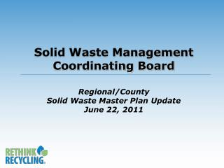 Regional/County Solid Waste Master Plan