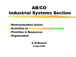 AB/CO  Industrial Systems Section
