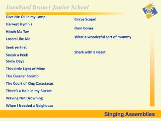 Singing Assemblies