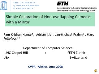 Simple Calibration of Non-overlapping Cameras with a Mirror