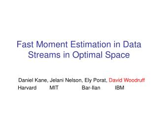 Fast Moment Estimation in Data Streams in Optimal Space