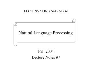 Fall 2004 Lecture Notes #7