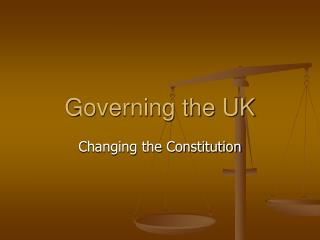 Governing the UK