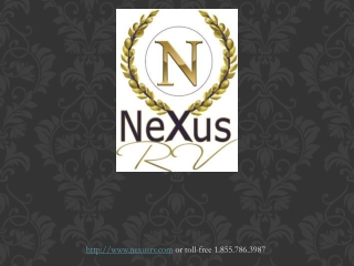 NeXus RV - About Us (Factory Direct Motorhome Manufacturer)