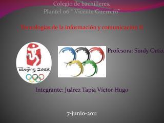 """Colegio de bachilleres. Plantel 06 """" Vicente Guerrero"""""""