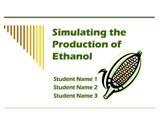 Simulating the Production of Ethanol