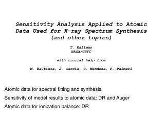 Atomic data for spectral fitting and synthesis