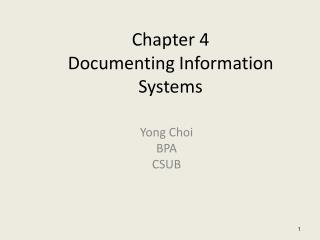 Chapter 4 Documenting Information Systems