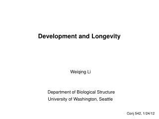 Development and Longevity