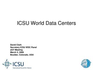 ICSU World Data Centers