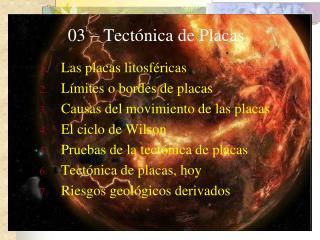 03 – Tectónica de Placas