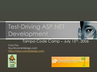 Test-Driving ASP.NET Development