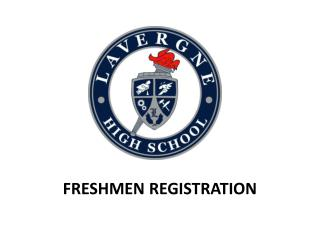 Freshmen Registration