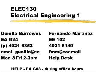 ELEC130   Electrical Engineering 1