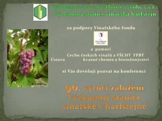 Výzkumný ústav rostlinné výroby v.v.i.,  Výzkumná stanice vinařská Karlštejn