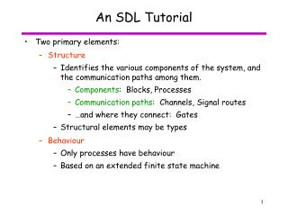 An SDL Tutorial