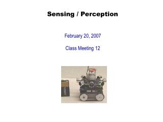 Sensing / Perception