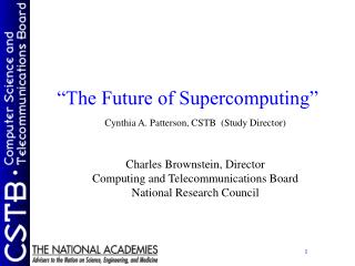 """The Future of Supercomputing"""