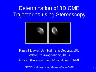 Determination of 3D CME Trajectories using Stereoscopy