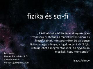 fizika  és sci-fi