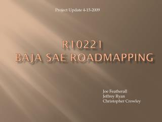 R10221   Baja  Sae Roadmapping
