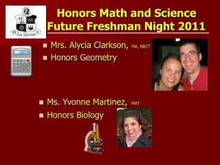 Honors Math and Science  Future Freshman Night 2011